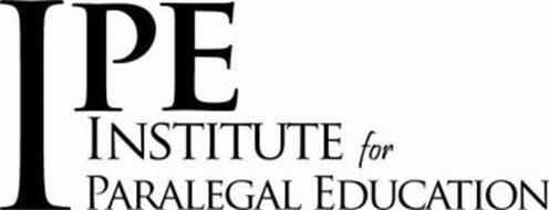 IPE INSTITUTE FOR PARALEGAL EDUCATION
