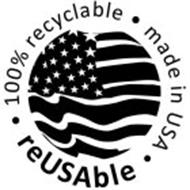 100% RECYCLABLE MADE IN USA REUSABLE