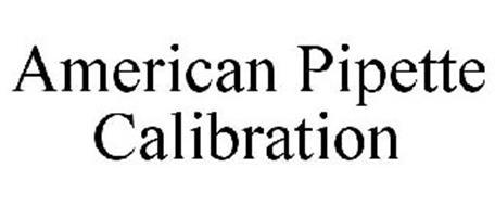 AMERICAN PIPETTE CALIBRATION