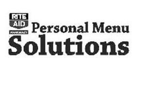 RITE AID PHARMACY PERSONAL MENU SOLUTIONS