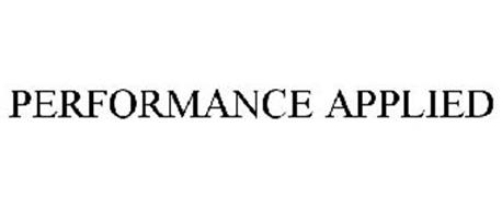 PERFORMANCE APPLIED