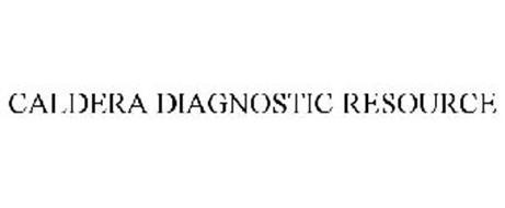 CALDERA DIAGNOSTIC RESOURCE