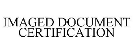 IMAGED DOCUMENT CERTIFICATION