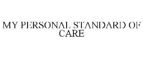 MY PERSONAL STANDARD OF CARE