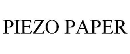PIEZO PAPER