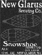 NEW GLARUS BREWING CO. SNOWSHOE ALE BREWED AND BOTTLED IN NEW GLARUS, WI. 12 FL. OZ.