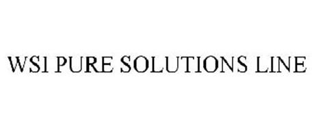 WSI PURE SOLUTIONS LINE
