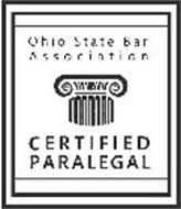 OHIO STATE BAR ASSOCIATION CERTIFIED PARALEGAL