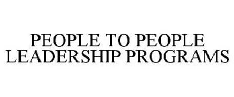PEOPLE TO PEOPLE LEADERSHIP PROGRAMS