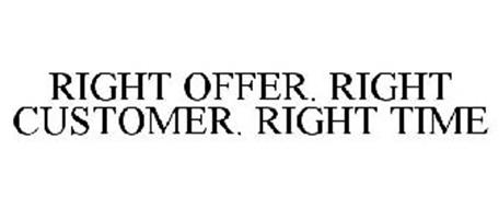 RIGHT OFFER. RIGHT CUSTOMER. RIGHT TIME