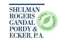 SHULMAN ROGERS GANDAL PORDY & ECKER, P.A. LEGAL GOING GREEN