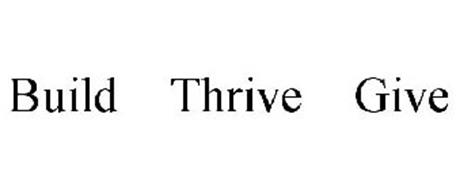BUILD THRIVE GIVE