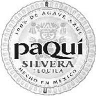 PAQUÍ SILVERA 100% DE AGAVE AZUL HECHO EN MÉXICO
