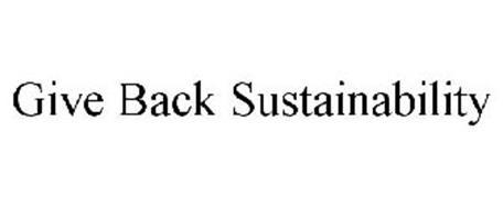 GIVE BACK SUSTAINABILITY