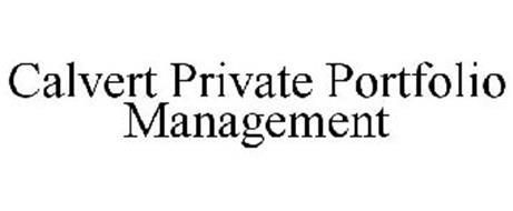 CALVERT PRIVATE PORTFOLIO MANAGEMENT