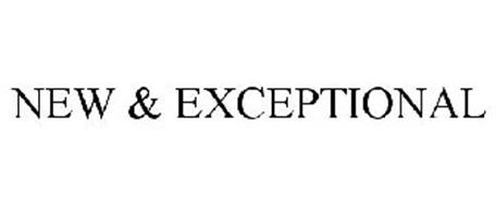 NEW & EXCEPTIONAL