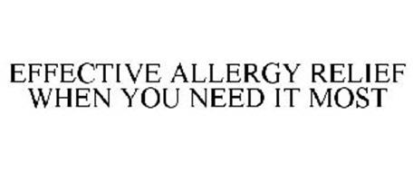 EFFECTIVE ALLERGY RELIEF WHEN YOU NEED IT MOST
