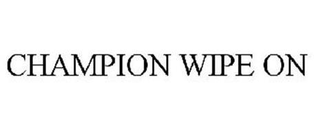 CHAMPION WIPE ON