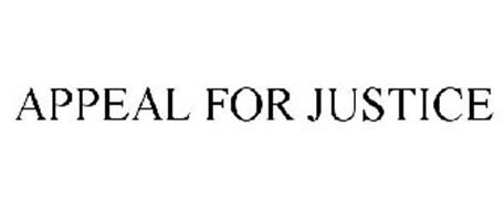 APPEAL FOR JUSTICE