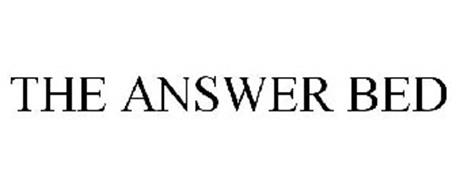 THE ANSWER BED