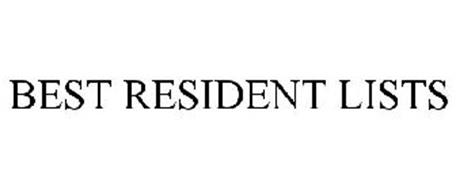 BEST RESIDENT LISTS