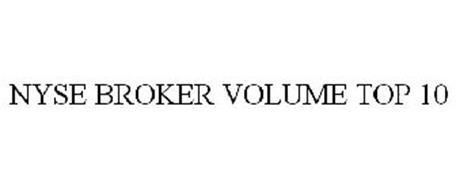 NYSE BROKER VOLUME TOP 10