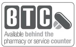 BTC AVAILABLE BEHIND THE PHARMACY OR SERVICE COUNTER