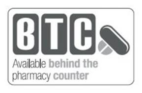 BTC AVAILABLE BEHIND THE PHARMACY COUNTER