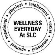 WELLNESS EVERYDAY AT SLC INTELLECTUAL SOCIAL · EMOTIONAL · SPIRITUAL · VOCATIONAL · PHYSICAL