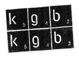 K 5 G 4 B 2 K 5 G 4 B 2