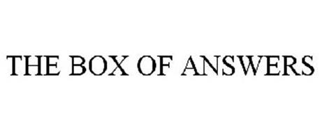 THE BOX OF ANSWERS