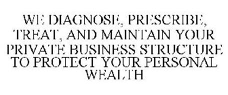 WE DIAGNOSE, PRESCRIBE, TREAT, AND MAINTAIN YOUR PRIVATE BUSINESS STRUCTURE TO PROTECT YOUR PERSONAL WEALTH