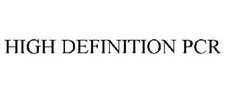 HIGH DEFINITION PCR