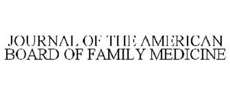 JOURNAL OF THE AMERICAN BOARD OF FAMILY MEDICINE