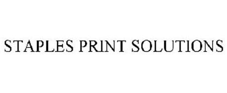 STAPLES PRINT SOLUTIONS