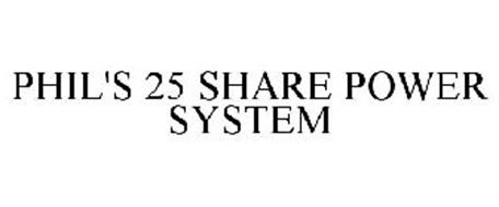 PHIL'S 25 SHARE POWER SYSTEM