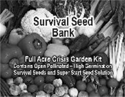 SURVIVAL SEED BANK FULL ACRE CRISIS GARDEN KIT CONTAINS OPEN POLLINATED - HIGH GERMINATION SURVIVAL SEEDS AND SUPER START SEED SOLUTION