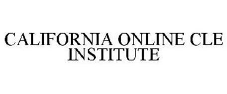 CALIFORNIA ONLINE CLE INSTITUTE