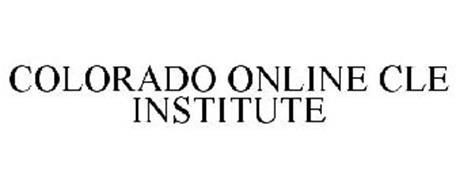 COLORADO ONLINE CLE INSTITUTE