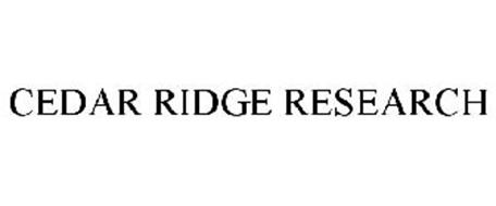 CEDAR RIDGE RESEARCH