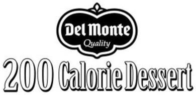 DEL MONTE QUALITY 200 CALORIE DESSERT