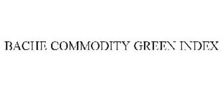 BACHE COMMODITY GREEN INDEX