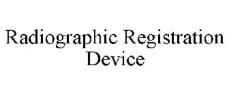 RADIOGRAPHIC REGISTRATION DEVICE
