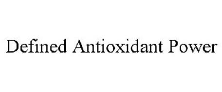DEFINED ANTIOXIDANT POWER