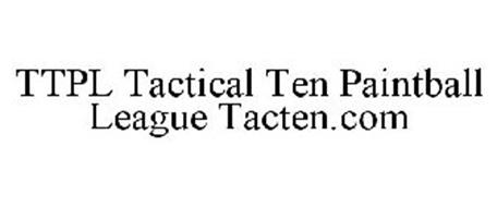 TTPL TACTICAL TEN PAINTBALL LEAGUE TACTEN.COM