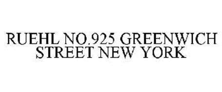 RUEHL NO.925 GREENWICH STREET NEW YORK