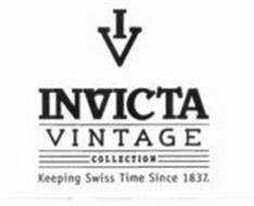 I V INVICTA VINTAGE COLLECTION KEEPING SWISS TME SINCE 1837