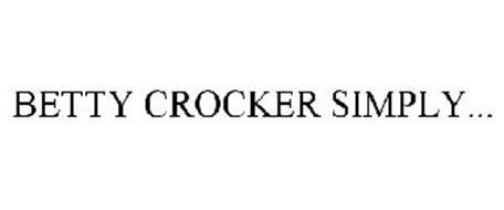 BETTY CROCKER SIMPLY...