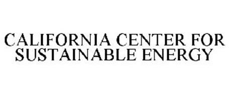 CALIFORNIA CENTER FOR SUSTAINABLE ENERGY