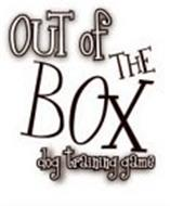 OUT OF THE BOX DOG TRAINING GAME